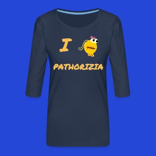 Love Pathorizia - Maglietta da donna premium con manica a 3/4