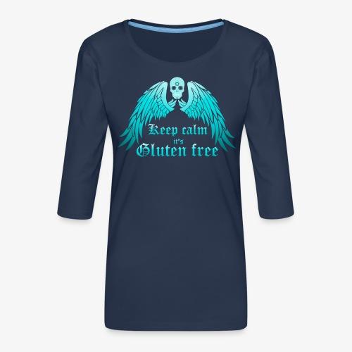 Keep calm it's Gluten free - Women's Premium 3/4-Sleeve T-Shirt