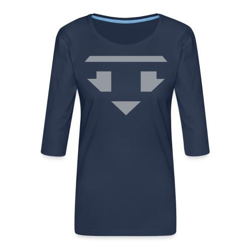 Twanneman logo Reverse - Vrouwen premium shirt 3/4-mouw
