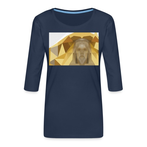 In awe of Jesus - Women's Premium 3/4-Sleeve T-Shirt