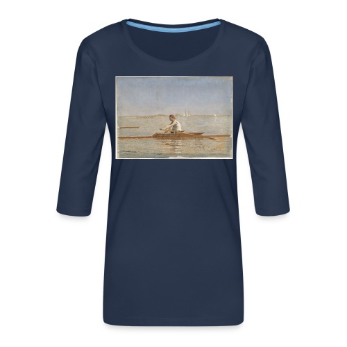 John Biglin in a Single Scull - Thomas Eakins - T-shirt Premium manches 3/4 Femme