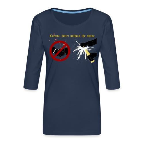corona - Premium-T-shirt med 3/4-ärm dam