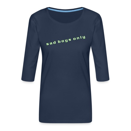only_sad - Women's Premium 3/4-Sleeve T-Shirt