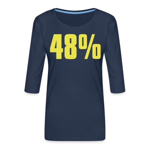 48% - Women's Premium 3/4-Sleeve T-Shirt
