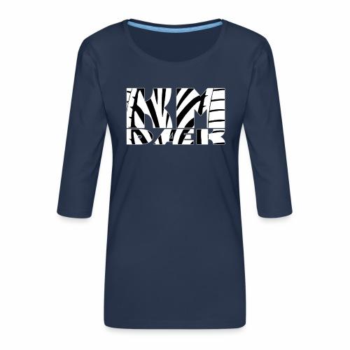 KM_white - Dame Premium shirt med 3/4-ærmer