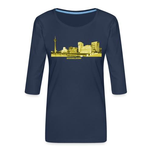 Düsseldorf NRW Nordrhein-Westfalen Medienhafen - Frauen Premium 3/4-Arm Shirt