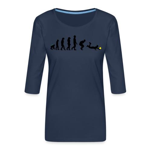 Evolution Defense - Maglietta da donna premium con manica a 3/4