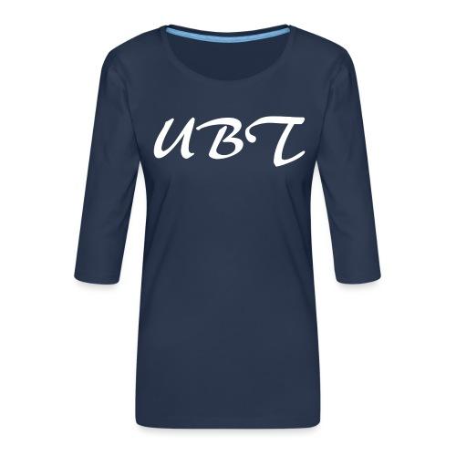 UBW - Premium-T-shirt med 3/4-ärm dam