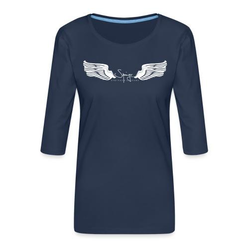Seraph Wings white - T-shirt Premium manches 3/4 Femme