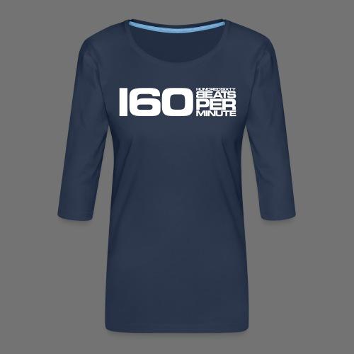 160 BPM (white long) - Frauen Premium 3/4-Arm Shirt