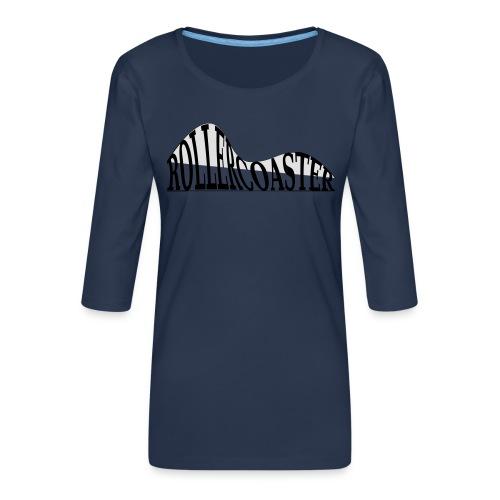 envelope_coaster - Dame Premium shirt med 3/4-ærmer