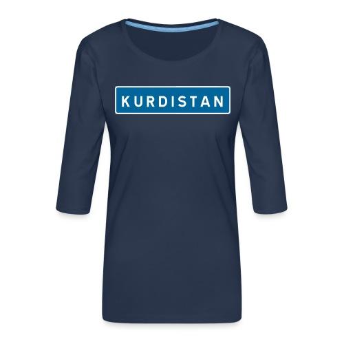 Kurdistanskylt - Premium-T-shirt med 3/4-ärm dam