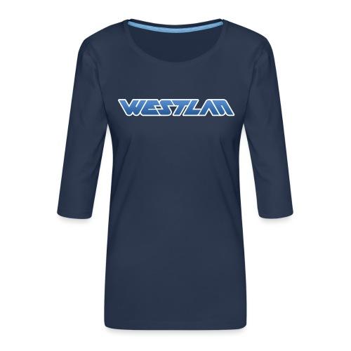WestLAN Logo - Women's Premium 3/4-Sleeve T-Shirt