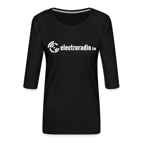 electroradio.fm - Women's Premium 3/4-Sleeve T-Shirt