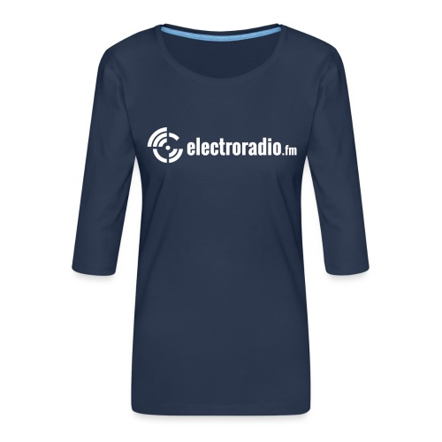 electroradio.fm - Frauen Premium 3/4-Arm Shirt