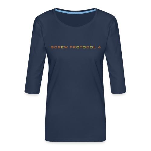 ScrewP4 Final - Women's Premium 3/4-Sleeve T-Shirt
