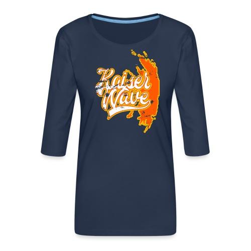 Kaiser Wave - T-shirt Premium manches 3/4 Femme
