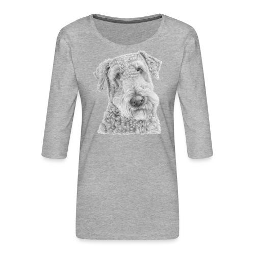 airedale terrier - Dame Premium shirt med 3/4-ærmer