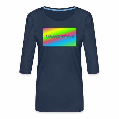 LukasVSMikkel Logo - Dame Premium shirt med 3/4-ærmer