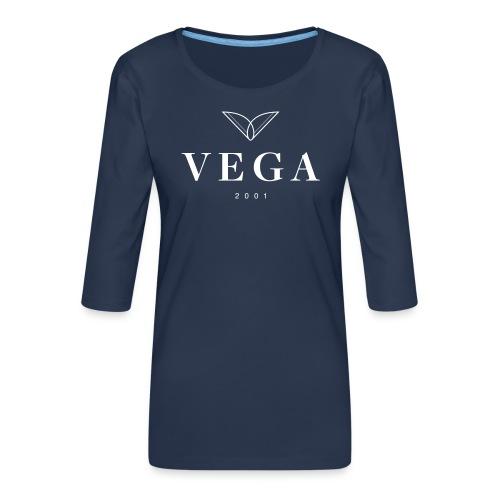 VEGA logo - Dame Premium shirt med 3/4-ærmer