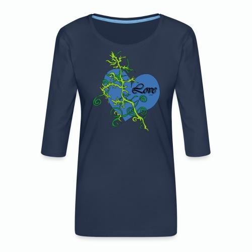 Blue Love - Frauen Premium 3/4-Arm Shirt