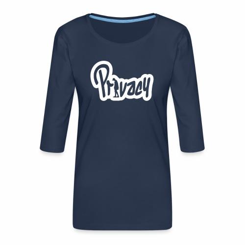 Privacy - T-shirt Premium manches 3/4 Femme