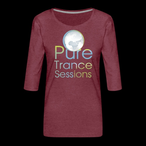 PTS logo new15 beeldmerkS png - Women's Premium 3/4-Sleeve T-Shirt