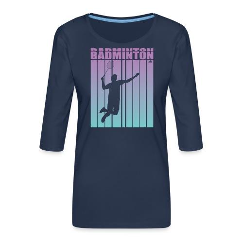 Badminton Jump Smash - Women's Premium 3/4-Sleeve T-Shirt