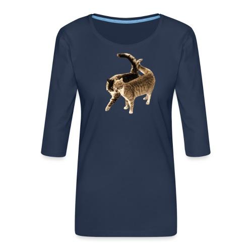 happy cats retro look - Women's Premium 3/4-Sleeve T-Shirt