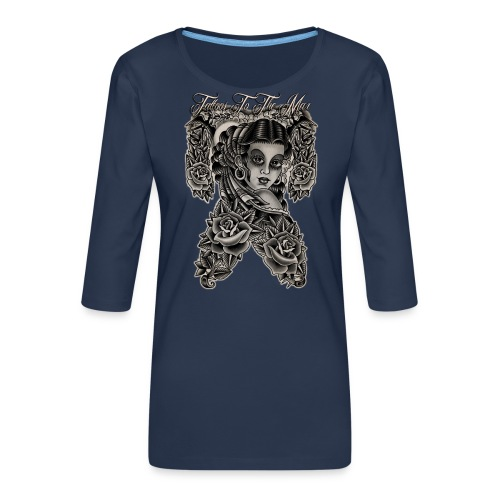 Gipsy Lady Flamenco Girl Chica Tattoos to the Max - Frauen Premium 3/4-Arm Shirt