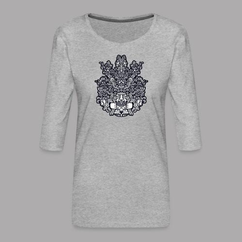 ancestors black - Women's Premium 3/4-Sleeve T-Shirt