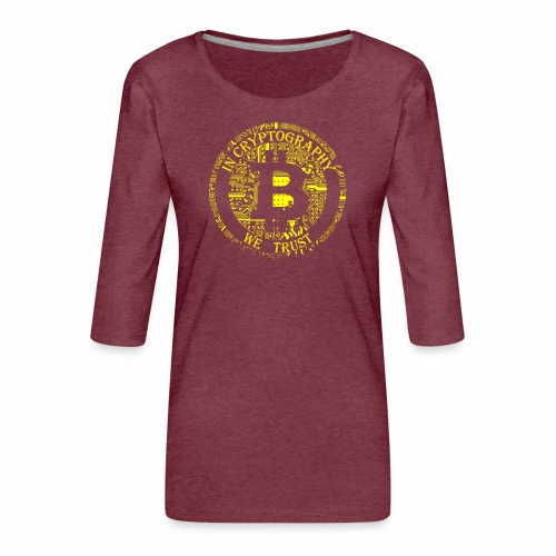 In cryptography we trust 2 - Women's Premium 3/4-Sleeve T-Shirt