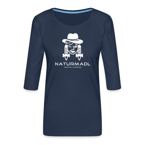 WUIDBUZZ | Naturmadl | Frauensache - Frauen Premium 3/4-Arm Shirt