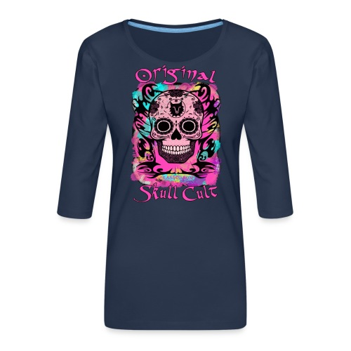 ORIGINAL SKULL CULT PINK - Frauen Premium 3/4-Arm Shirt