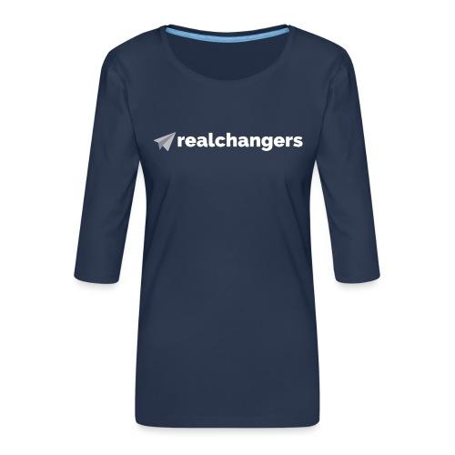 realchangers - Women's Premium 3/4-Sleeve T-Shirt