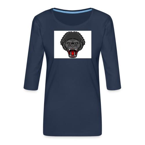 gorilla - Vrouwen premium shirt 3/4-mouw