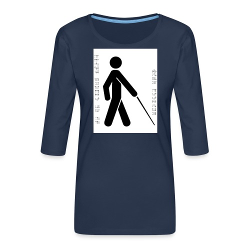 Blind T-Shirt - Women's Premium 3/4-Sleeve T-Shirt