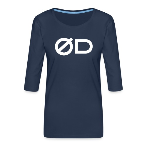 Seaquake QU Classic T-Shirt - Maglietta da donna premium con manica a 3/4