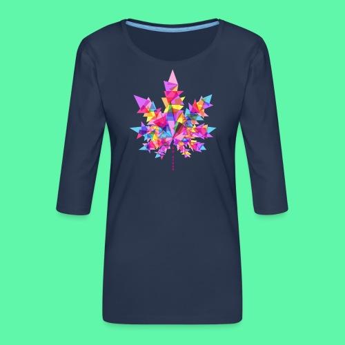 Mary Jane pink - Dame Premium shirt med 3/4-ærmer
