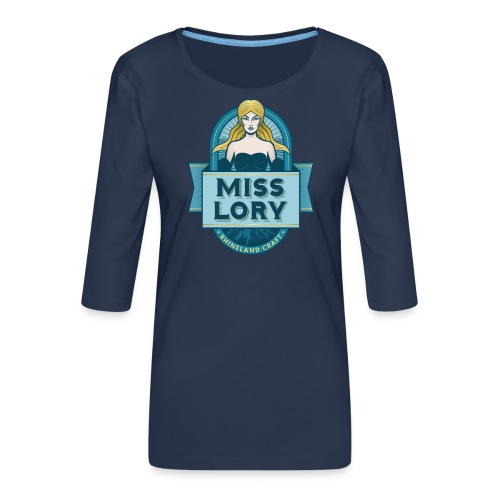 Miss Lory FINAL - Frauen Premium 3/4-Arm Shirt