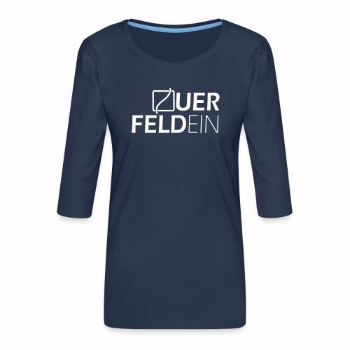 Querfeldein Logo - Frauen Premium 3/4-Arm Shirt