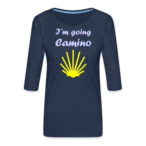 Going Camino - Dame Premium shirt med 3/4-ærmer