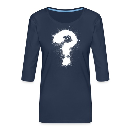 Fragezeichen - Frauen Premium 3/4-Arm Shirt