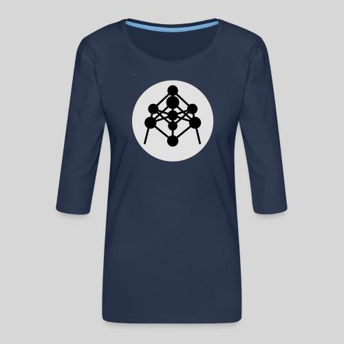 Atomium - T-shirt Premium manches 3/4 Femme