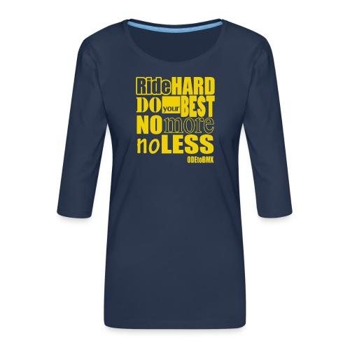ridehard yellow - Women's Premium 3/4-Sleeve T-Shirt