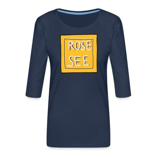 Logo voor druk op textiel - Vrouwen premium shirt 3/4-mouw