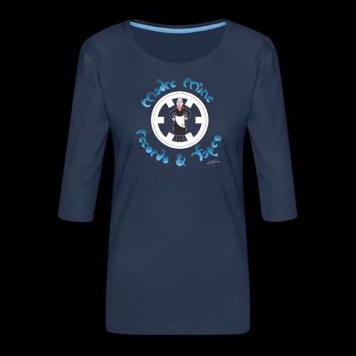 PC34 - madre mine records tapes la señora arcos - Camiseta premium de manga 3/4 para mujer