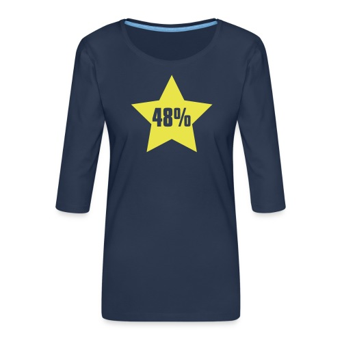 48% in Star - Women's Premium 3/4-Sleeve T-Shirt