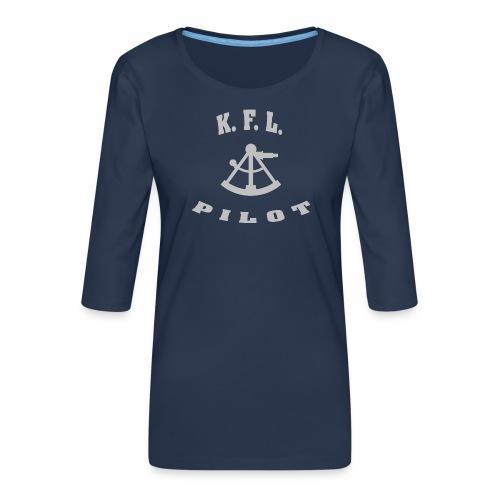 KFL_Back - Dame Premium shirt med 3/4-ærmer