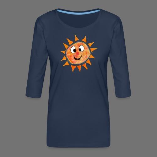 Aurinko - Naisten premium 3/4-hihainen paita